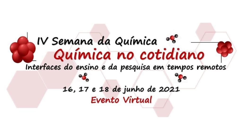 Nessa imagem consta informações sobre o dia de do evento que são 16,17 e 18 de Junho e fala sobre o tema Química no Cotidiano.